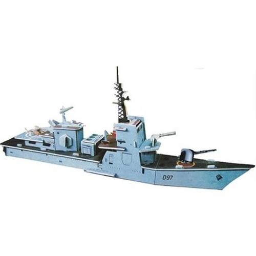 Blueway Savaş Gemisi Firkateyn Karton Maketi 3D Puzzle