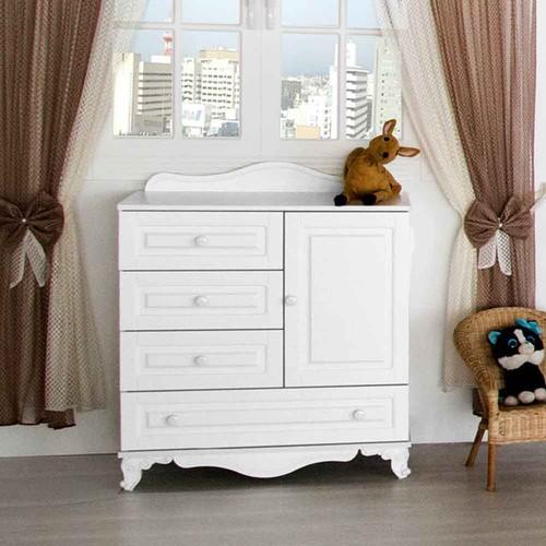 Aymini Arman Mini Bebek Odası Mdf Şifonyer Beyaz