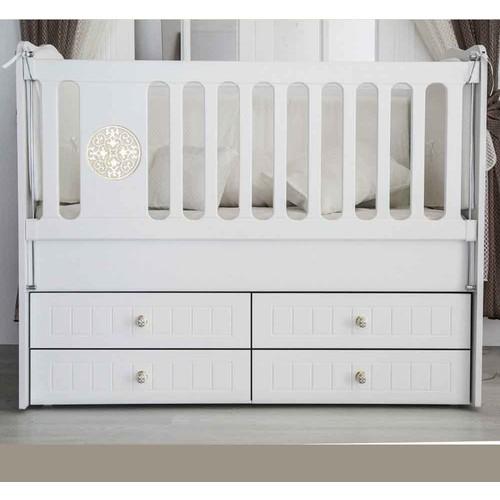 Aymini Eliza Eco Bebek Odası Beşik Beyaz