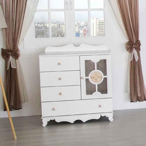 Aymini Eliza Maxi Bebek Odası Mdf Şifonyer Beyaz