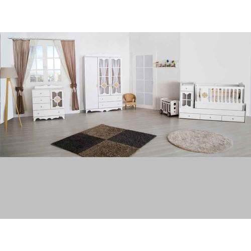 Aymini Eliza Maxi Mdf Bebek Odası Takımı Beyaz