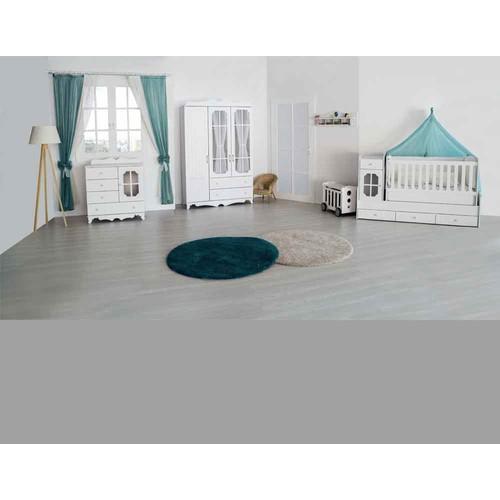 Aymini İnci Büyüyen Beşikli Bebek Odası Takımı Beyaz