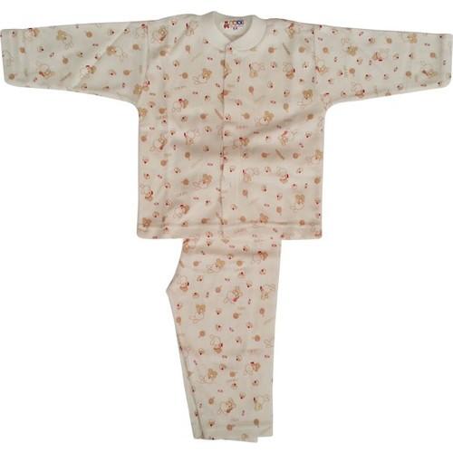 Sebi Bebe 51206 Bebek Pijaması Tavşanlı Kahverengi