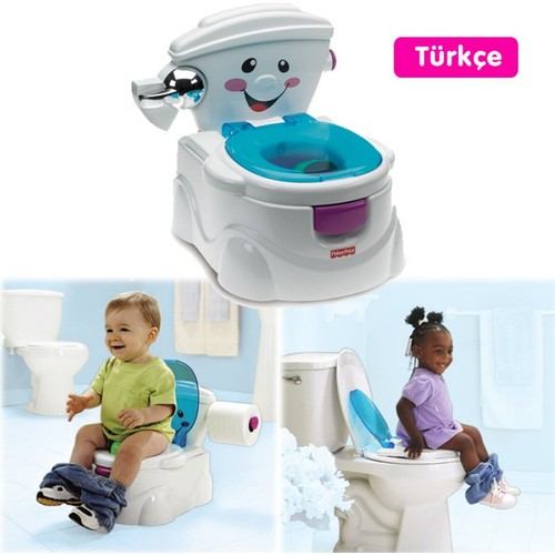 Lisanslı Fisher Price Eğitici Eğlenceli Tuvalet (Türkçe)