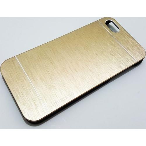 Motomo Apple İphone 5 - 5S Motomo Gold Metal Kapak Kılıf