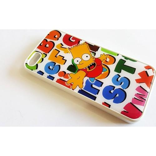 Mobillife Apple İphone 5/5S Bart Simpson Silikon Rubber Kılıf