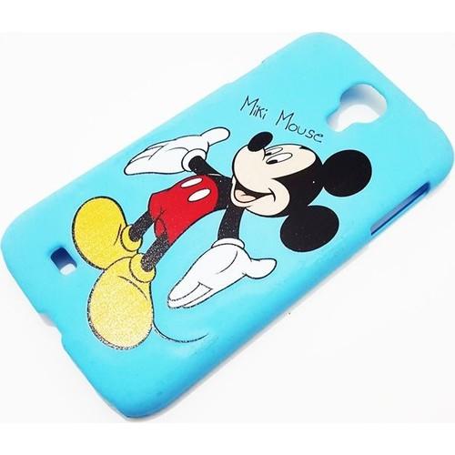 Mobillife Samsung Galaxy S4 Mickey Mavi Rubber Kılıf