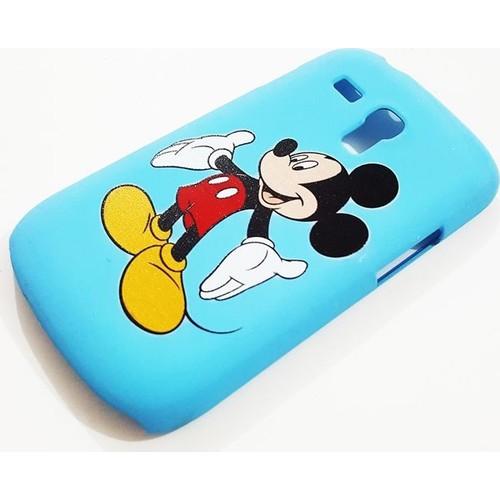 Mobillife Samsung Galaxy S Duos S7562 Miki Mouse Mavi Sert Silikon Kılıf