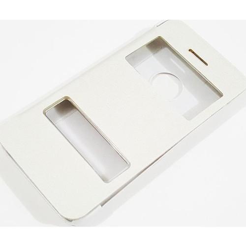 Mobillife Apple İphone 5/5S Kapaklı Pencereli Beyaz Kılıf