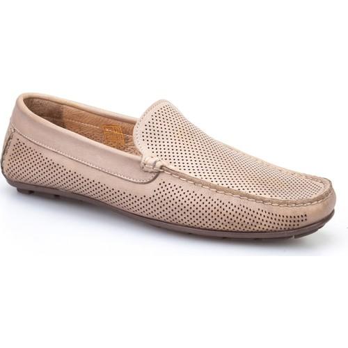 Cabani Lazerli Makosen Günlük Erkek Ayakkabı Vizon Soft Deri
