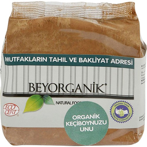 BeyOrganik Organik Tam-Keçiboynuzu Unu (Jelatin Ambalaj), 250gr