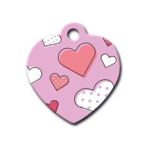 Dalis Pet Tag - Kalp Desenli Kalp Kedi Köpek Künyesi