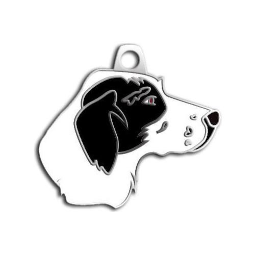 Dalis Pet Tag - Pointer Köpek Künyesi (Siyah - Beyaz)