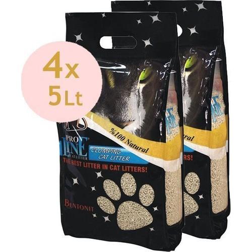Proline Topaklaşan Kedi Kumu 4*5 Lt Parfümsüz