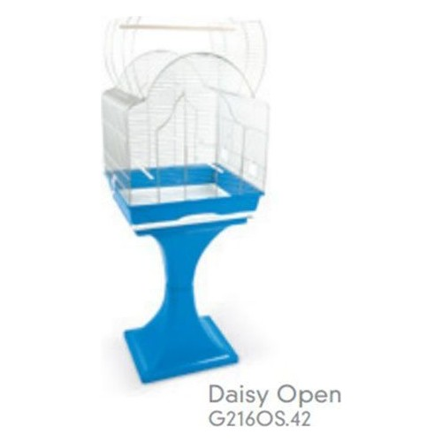 Record Mps Daisy Ayaklı Üstü Açilabilen Kuş Kafesi (Krom-Mavi) 56X36X127 Cm