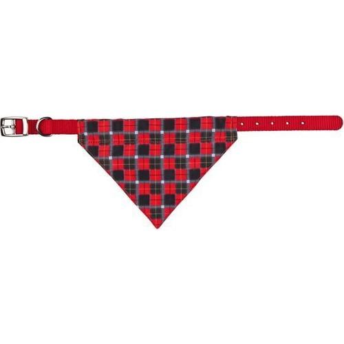 Trixie Bandanali Köpek Boyun Tasması S-M 30-38 Cm 20 Mm (Kırmızı)