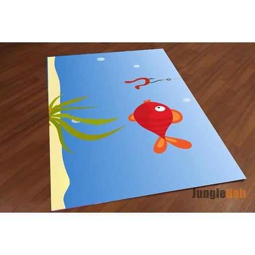 Jungle Kırmızı Balık Çocuk Halısı