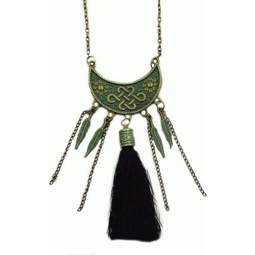 Yeni Moda 2016 Püsküllü Kolye Eskitme Model Metal Kolyeler