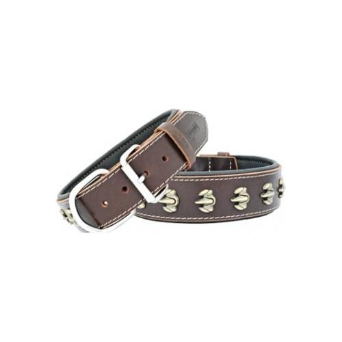 Doggie Kemik Metal Süslü Köpek Tasması 2*40 cm Small
