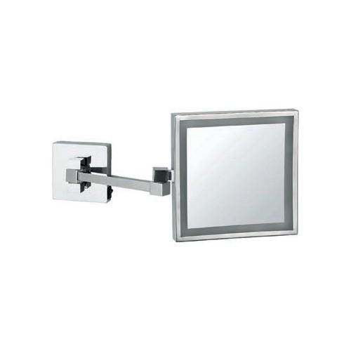 Bocchi Ayna Led Işıklı, Çift Kollu, Kare, 3X Krom