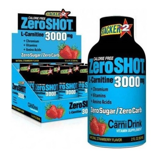 Stacker2 Zero Shot 3000 mg L-Carnitine 60 ml (12 Adet)