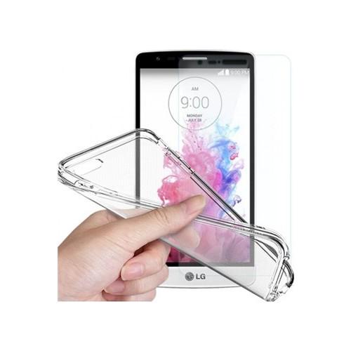 Angel Eye LG G4 Ekran Koruyucu + Şeffaf Silikon Kılıf
