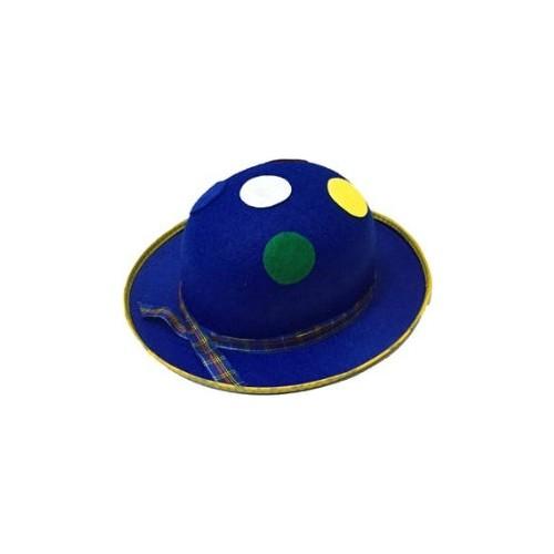 Toptancı Kapında Benekli Palyaço Şapkası - Mavi