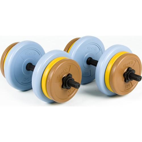 Spor724 25 Kg. Ağırlık Dambıl Bar Plaka Seti Kondisyon Gym Fitness Spor Aleti PS25-1