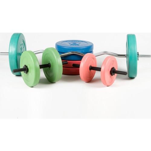Spor724 86 Kg. Ağırlık Dambıl Bar Plaka Seti Kondisyon Gym Fitness Spor Aleti PS86-2