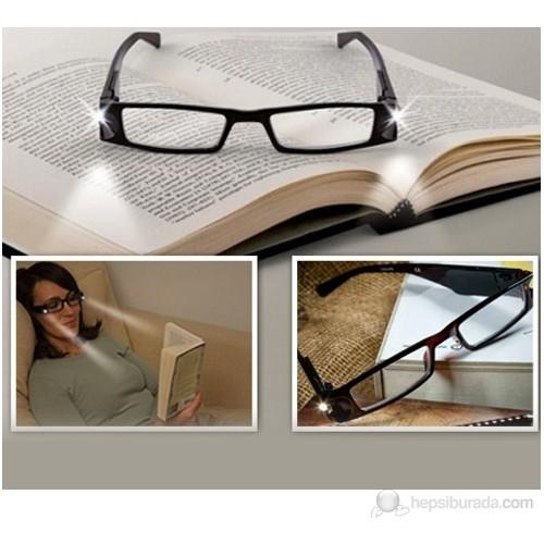 Vip Led Işıklı Kitap Okuma Gözlüğü - Numarasız