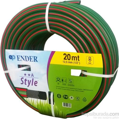Vip Style Örgülü Hortum 1/2 Yeşil 20Mt