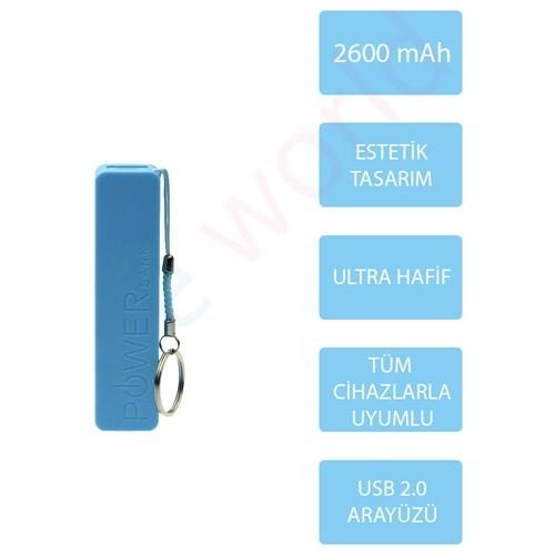 Vip 2600 mAh Taşınabilir Şarj Cihazı Mavi - 2113