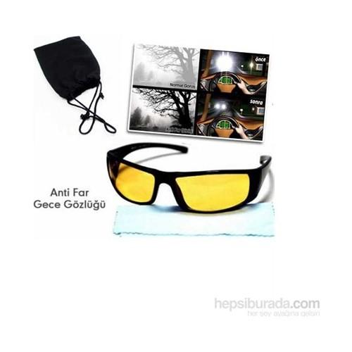 Vip Anti Far Gece Görüş Gözlüğü ( Taşıma Çantalı ve Temizleme Bezi Hediyeli )