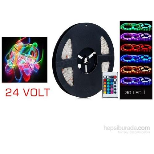 Vip Kumandalı 15 Renkli Şerit Led 5 Metre 24 Volt
