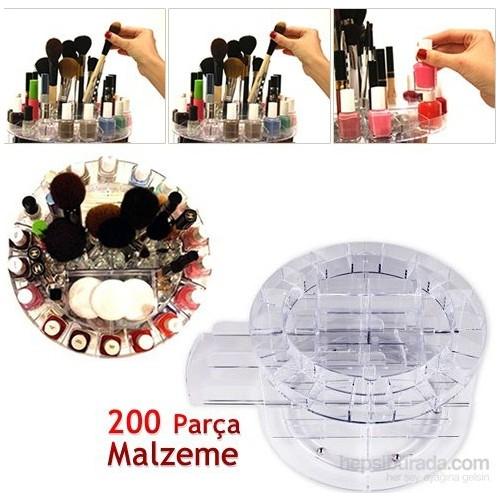 Vip Makyaj Malzemesi Standı 360 Derece Döner Mekanizmalı kk