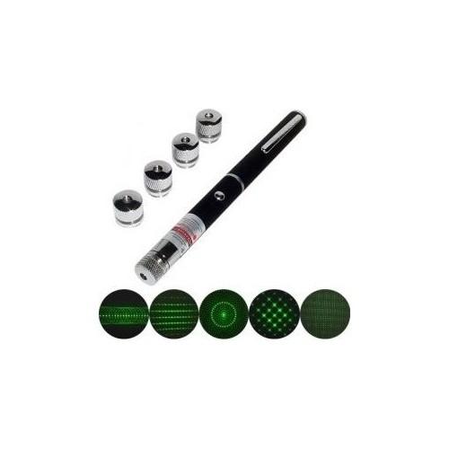 Vip Yeşil Lazer Pointer 500 mW 50 Km Etkili (5 Başlıklı)