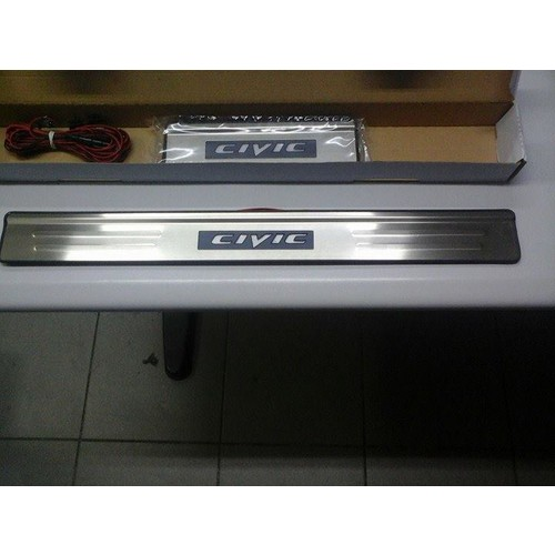 Civic Honda 2006-2011 Işıklı Led Kapı Eşiği Krom
