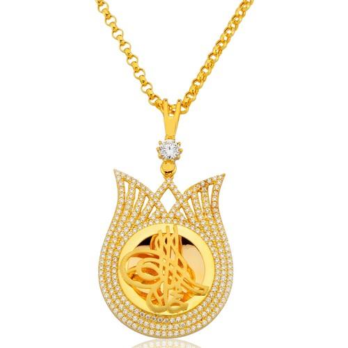UMT Osmanlı Tarzı 14 Ayar Altın Kolye