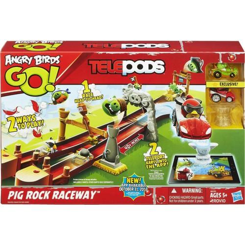 Hasbro Angry Birds Go! Telepods Pig Rock Raceway Oyun Seti Oyuncak Figürleri