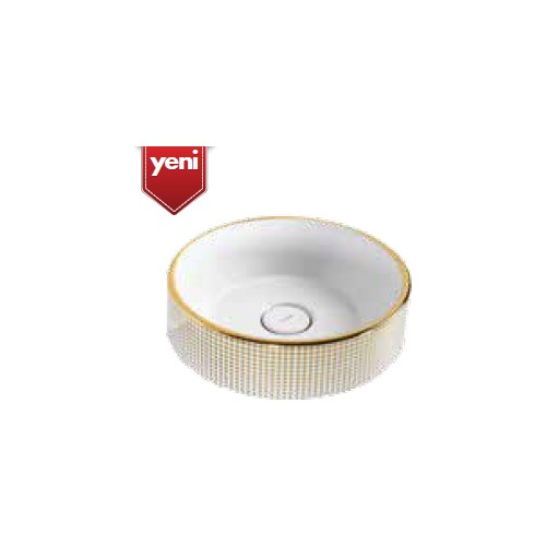 Creavit Point Gold Day 45 Cm Setüstü Lavabo - Beyaz