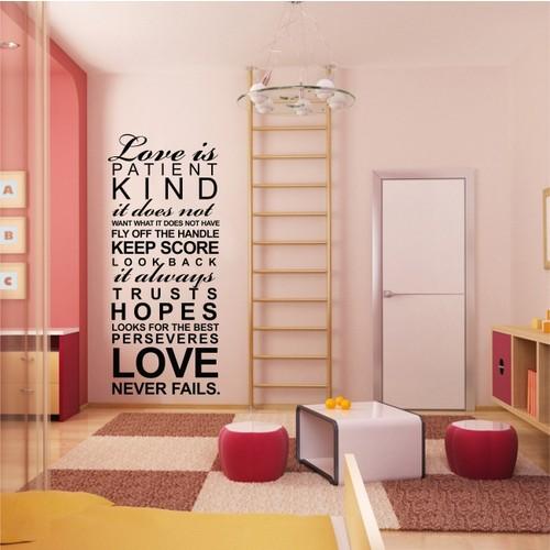 Love is Patient Duvar Sticker