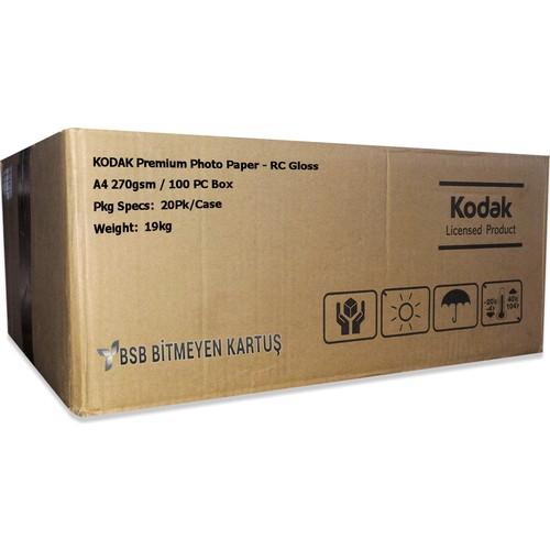 Kodak Ultra Premium Glossy,Parlak A4 270gr 1 Koli 20 Paket