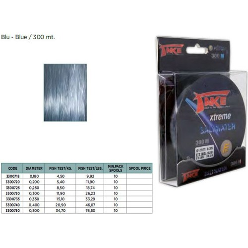 Lineaeffe Xtreme Saltwater Misina 300m 0,18 mm