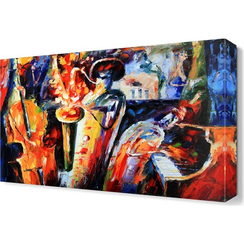 Dekor Sevgisi Enstrumanların Dansı Canvas Tablo 45x30 cm