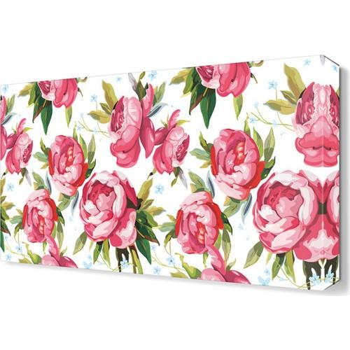 Dekor Sevgisi Çiçek Desenleri Tablosu 45x30 cm