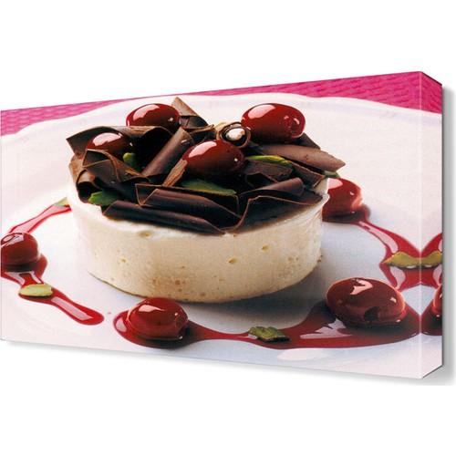 Dekor Sevgisi Çikolatalı Pasta Tablosu 45x30 cm