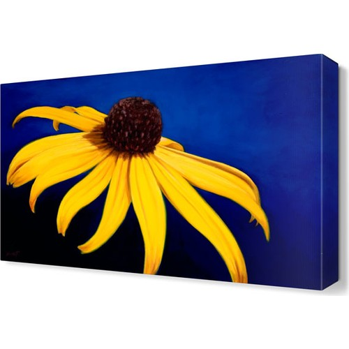 Dekor Sevgisi Sarı Papatya Çiçeği Tablosu 45x30 cm