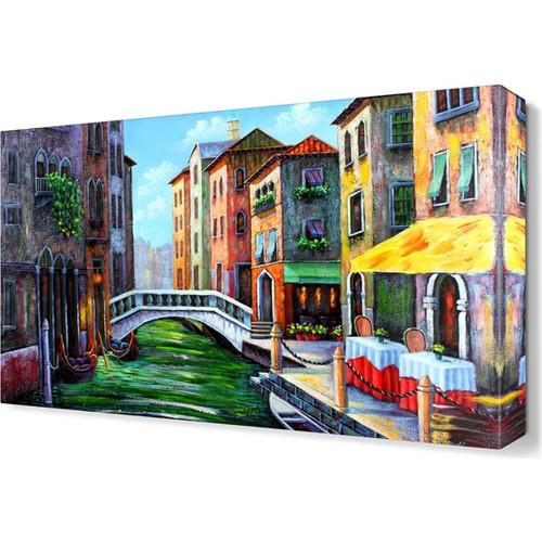 Dekor Sevgisi Yeşil Su Tablosu 45x30 cm