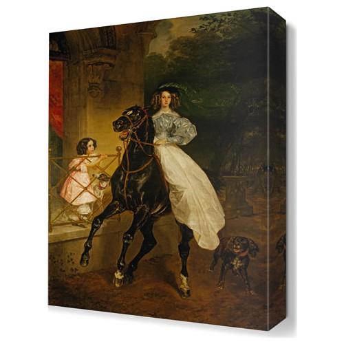 Dekor Sevgisi KArl Briullov Tablosu 45x30 cm