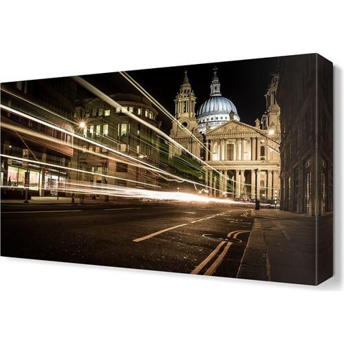 Dekor Sevgisi Gece Şehir Sokak Tablosu 45x30 cm